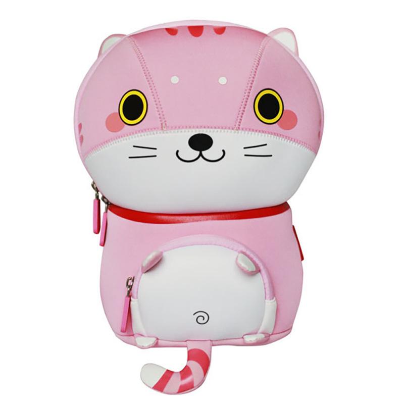 Детский рюкзак ортопедический Nohoo Котенок Розовый для девочек (TQ1001-1)