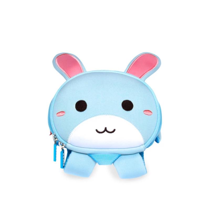 Детский рюкзак ортопедический Nohoo Зайка Голубой Маленький для мальчиков и девочек (NH042-1)