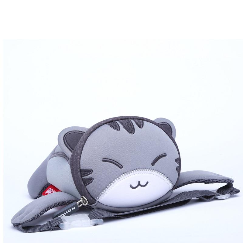 Сумка на пояс Серый котик