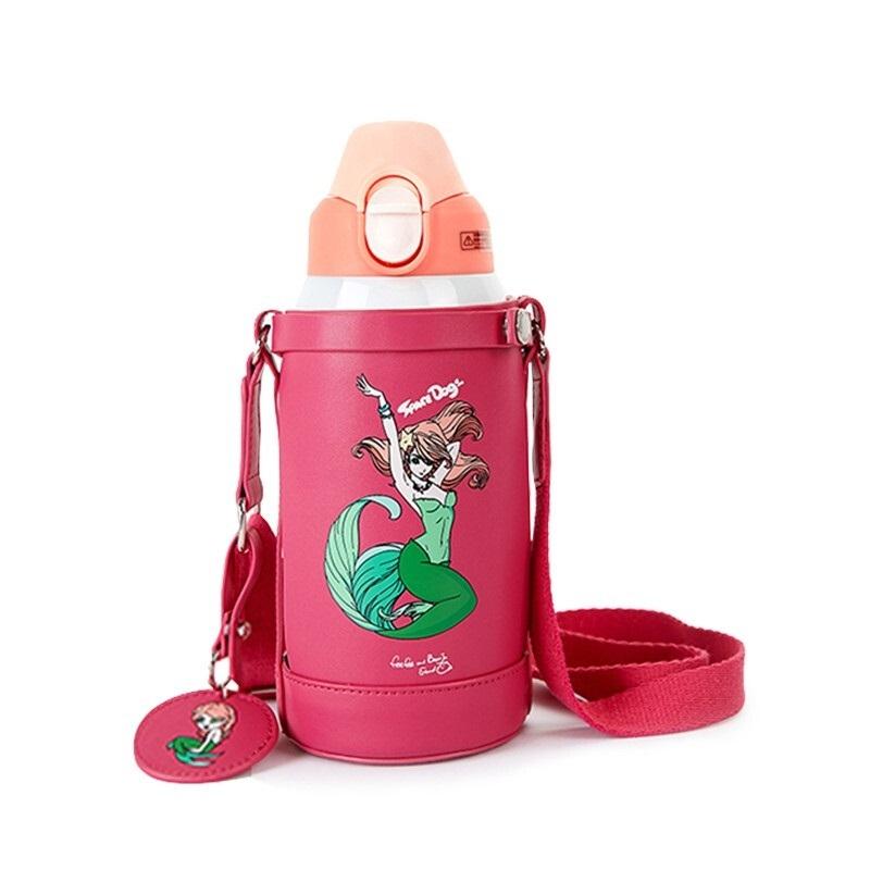 Детский Термос Русалка Розовая