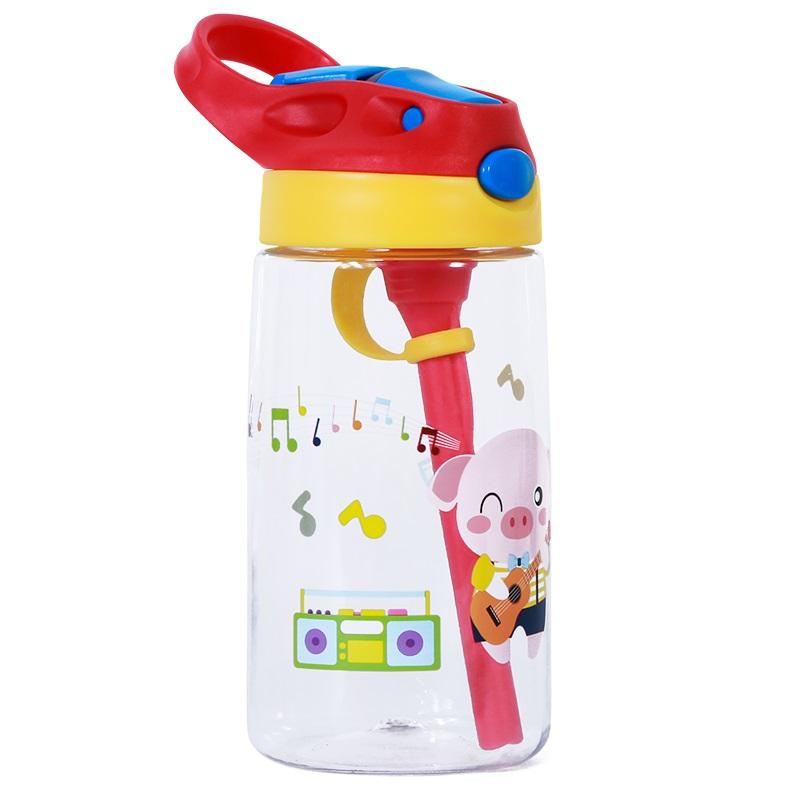 Бутылка для воды Свинка Прозрачная