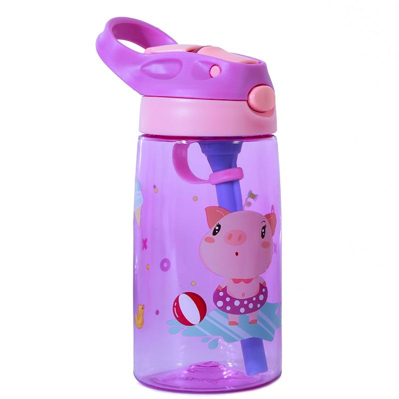 Бутылка для Воды Nohoo Свинка Фиолетовая для девочек (NHC003-3)