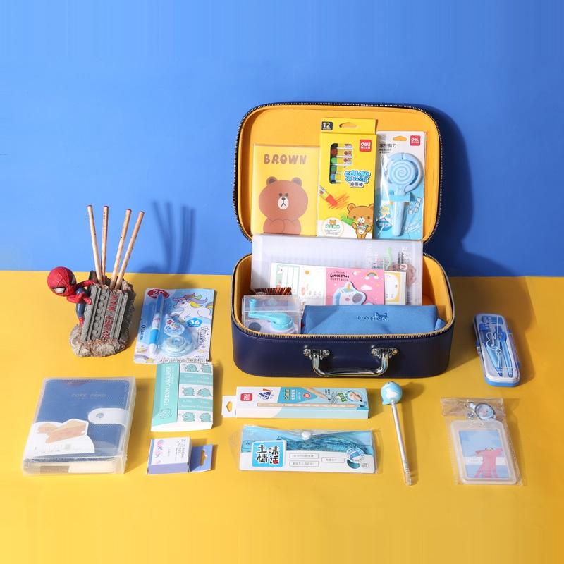 Канцелярський набор в чемодане Лисенок Синий 20 предм.