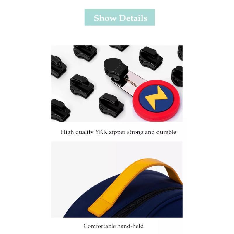 Школьный ранец ортопедический Nohoo Ракета Синий для мальчика обегченный (NHZ021-14)