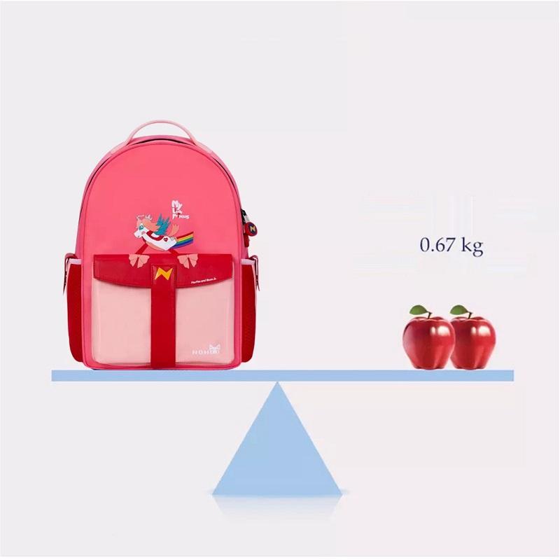 Школьный ранец ортопедический Nohoo Ракета Розовый для девочек обегченный (NHZ021-16)