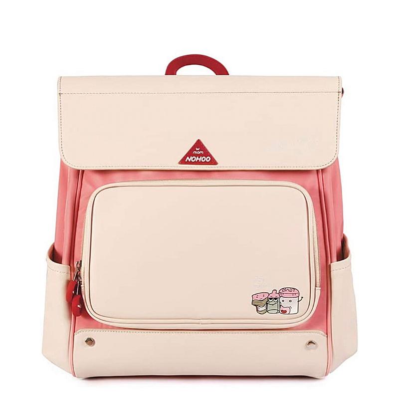 Сумка-рюкзак для мамы розовая